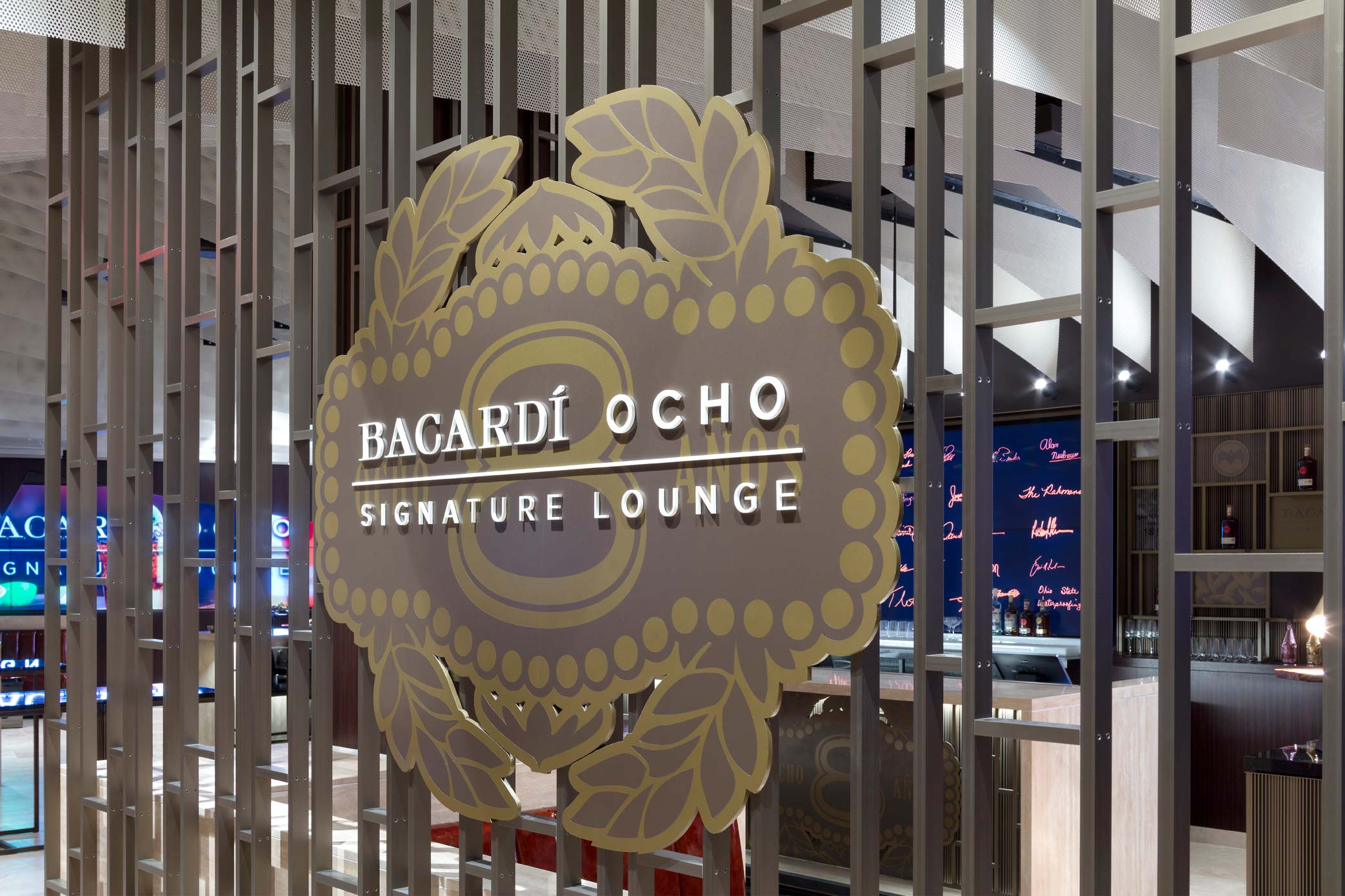 Bacardi Ocho Signature Lounge Entrance