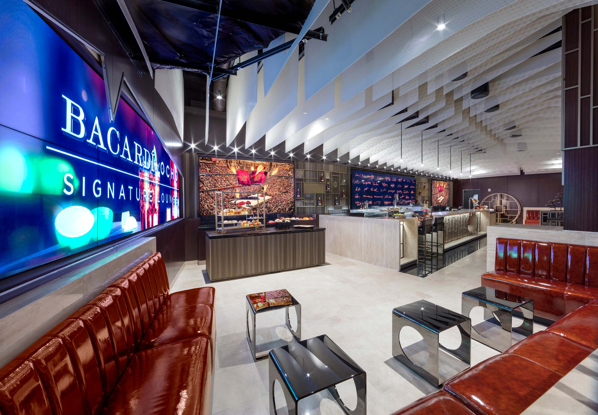 Bacardi Ocho Signature Lounge Interior
